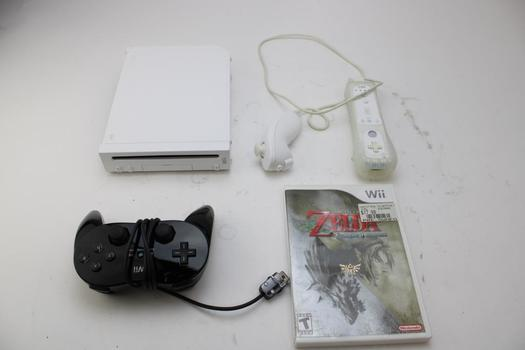 Wii Gaming Console W/game The Legend Of Zelda Twilight Princess