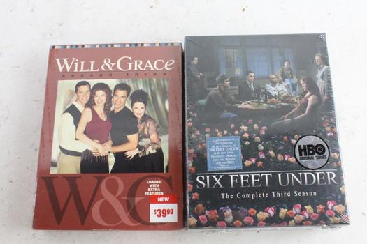Will & Grace And Other DVDs, 2 Pieces