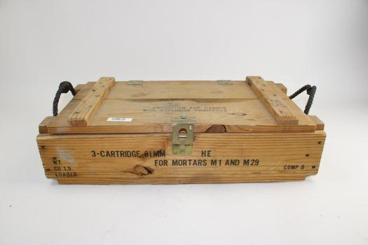 Wooden Cartridge Box