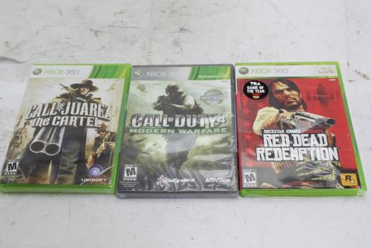 Xbox 360 Games, 3 Pieces