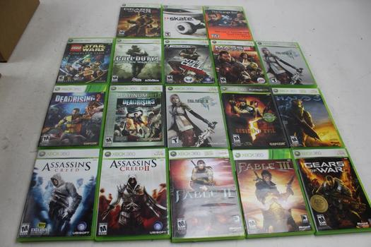 Xbox 360 Games: Halo 3, Resident Evil 5, Dead Rising 1 & 2 And More: 10+ Games
