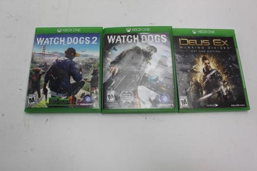 Xbox One Deus Ex Makind Divided & Watchdogs 1-2; 3 Pieces