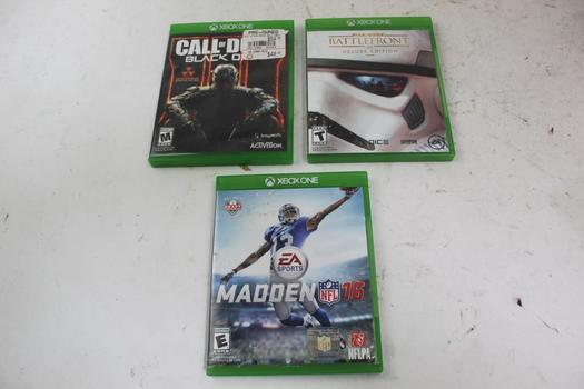 Xbox One Games; 3 Pieces