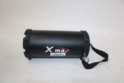 X-Max Black Portable Speaker Unknown Model