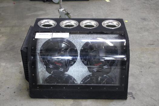 Xplod 800wxm-1252gtr Amp With Dual Quinn Acoustic Speakers