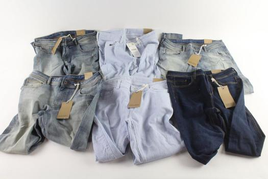 Zara Jeans, Size 4, 8, 10 And 12, 6 Pieces