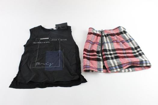 Zara Sleeveless Shirt Size Small And More, 2 Pieces