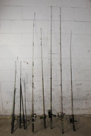 Zebco And Other Fishing Poles, 8 Pieces