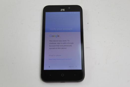 ZTE Avid Trio, 32GB, MetroPCS, Google Account Locked, Sold For Parts