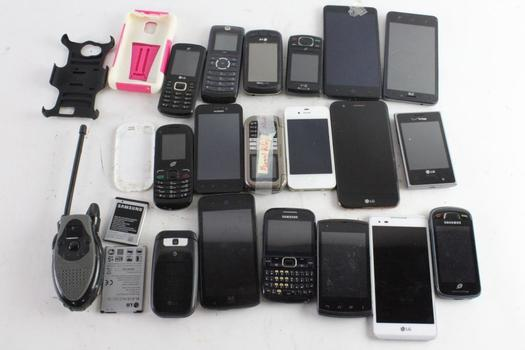 ZTE, Kyocera, & More Cell Phone Lot, 10+ Pieces, Sold For Parts