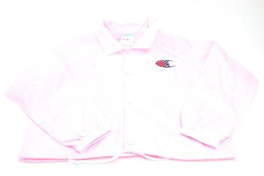 Zumie's Champion Pink Crop Coach Jacket; Size Large