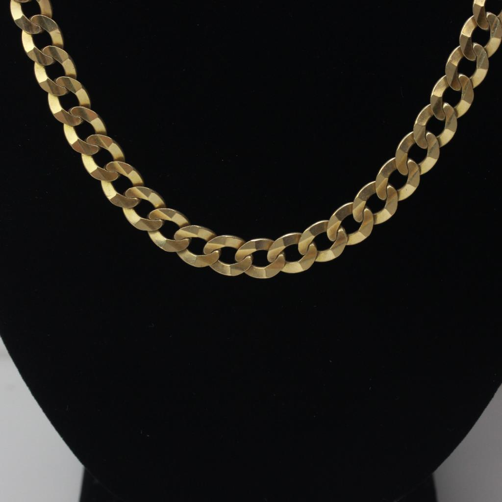 10kt Gold 37 8g Curb Chain Necklace Property Room