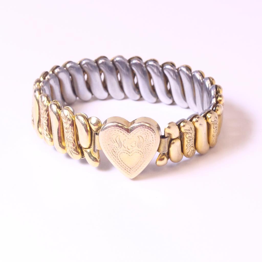 10kt Gold Plated 13 77g Vintage 1940 S Sweetheart Bracelet