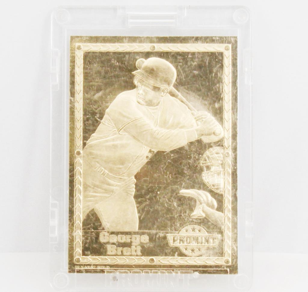 13kt Gold Plated Baseball Card Property Room
