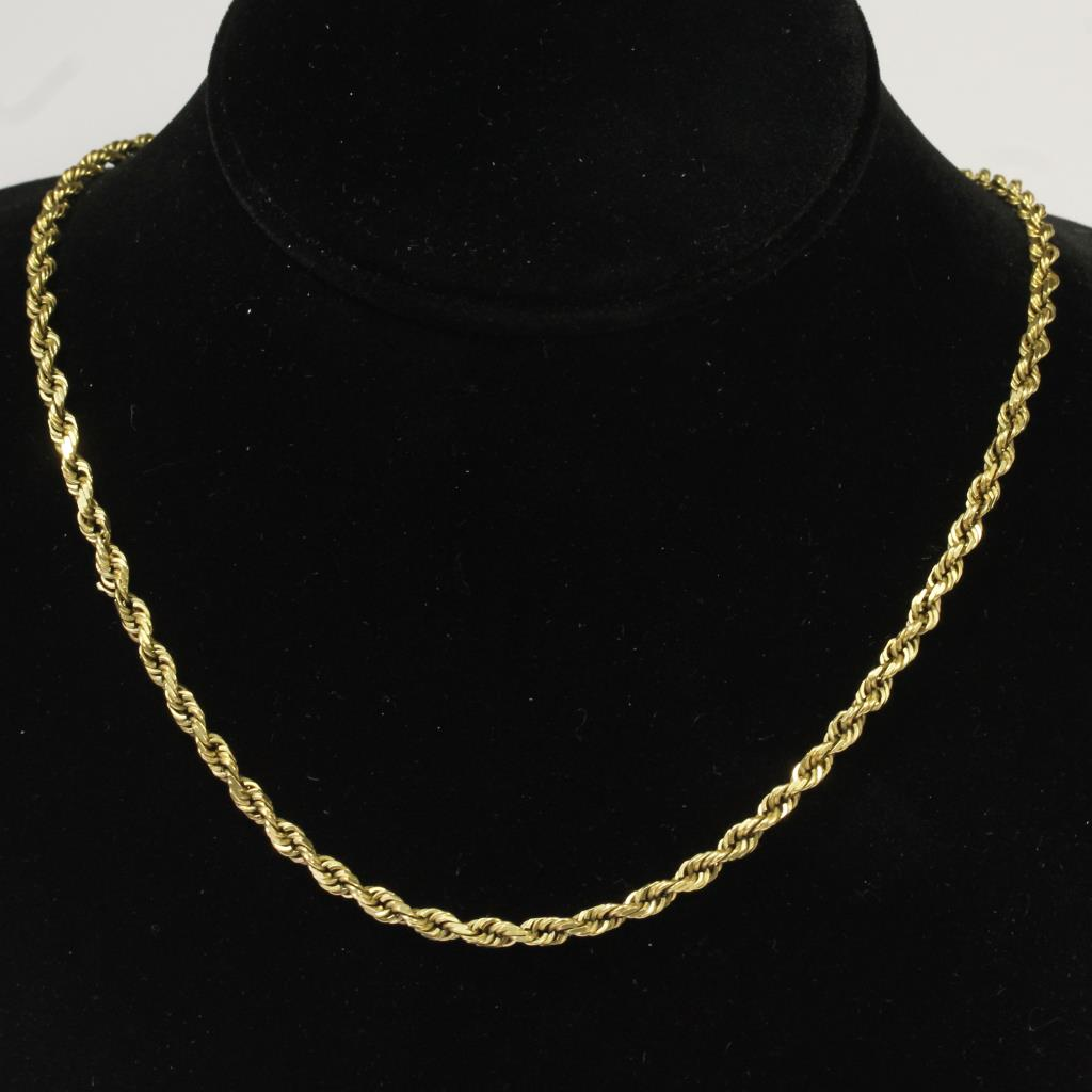 14kt Gold 21 6g Rope Chain Necklace Property Room