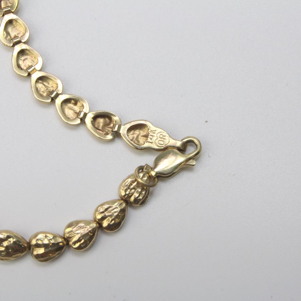 14kt Gold 3 5g Heart Link Bracelet