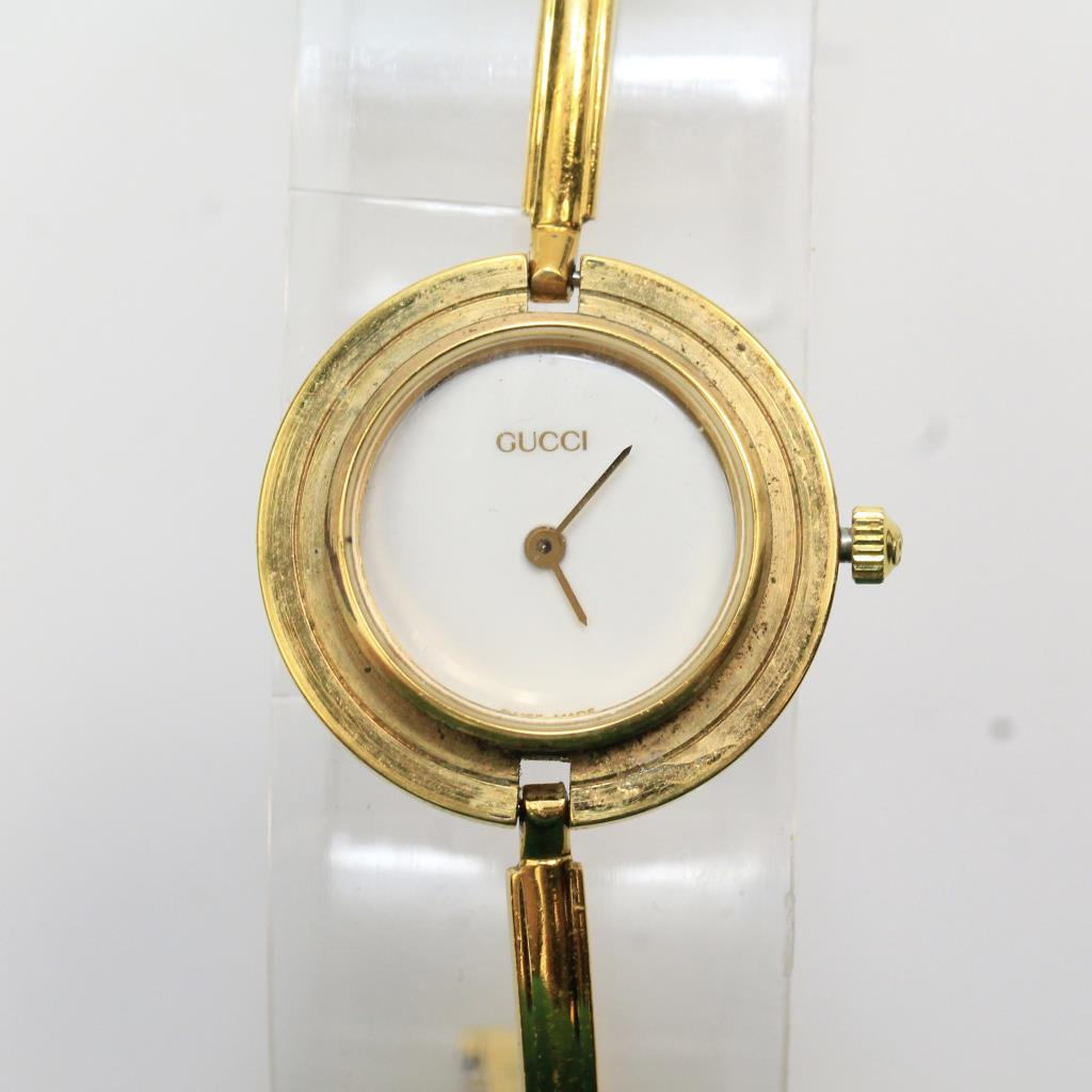14kt gold plated womens gucci watch property room
