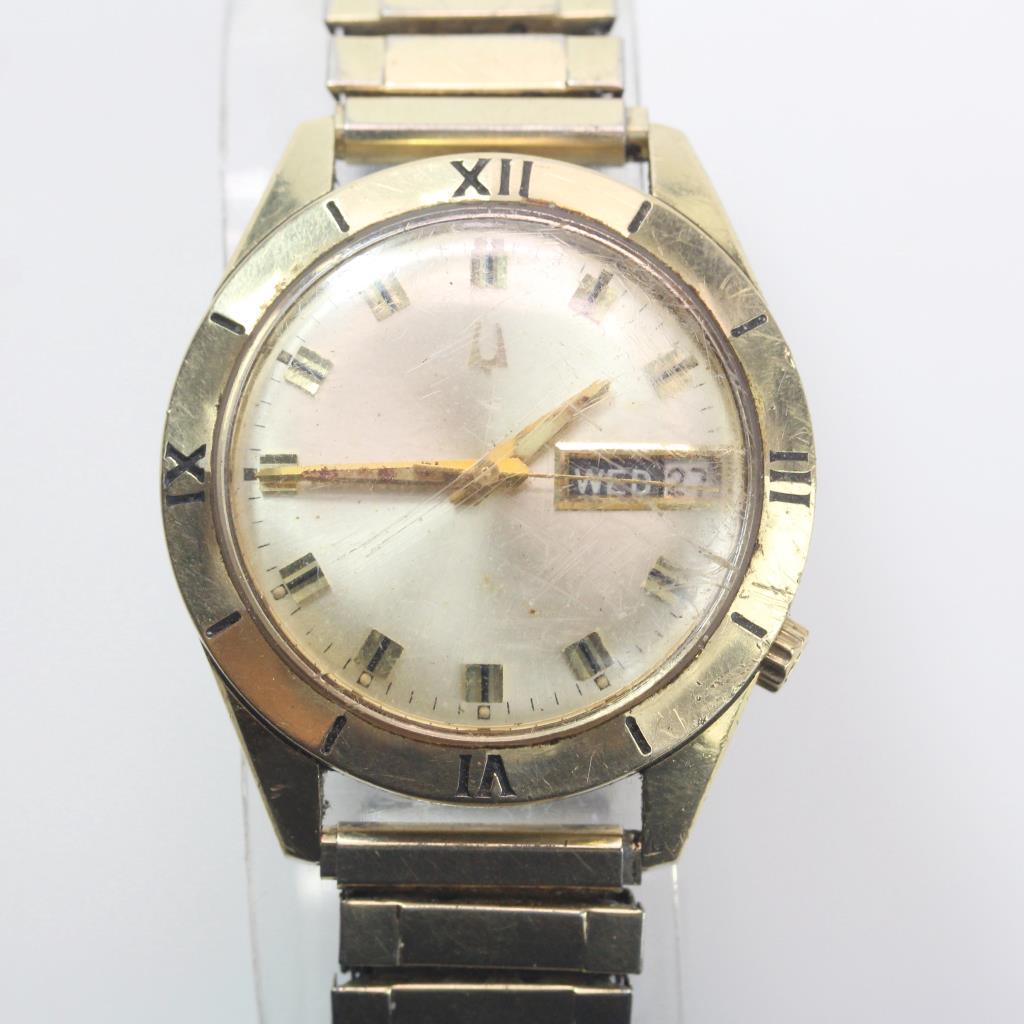 14kt Gold Vintage Bulova Watch | Property Room