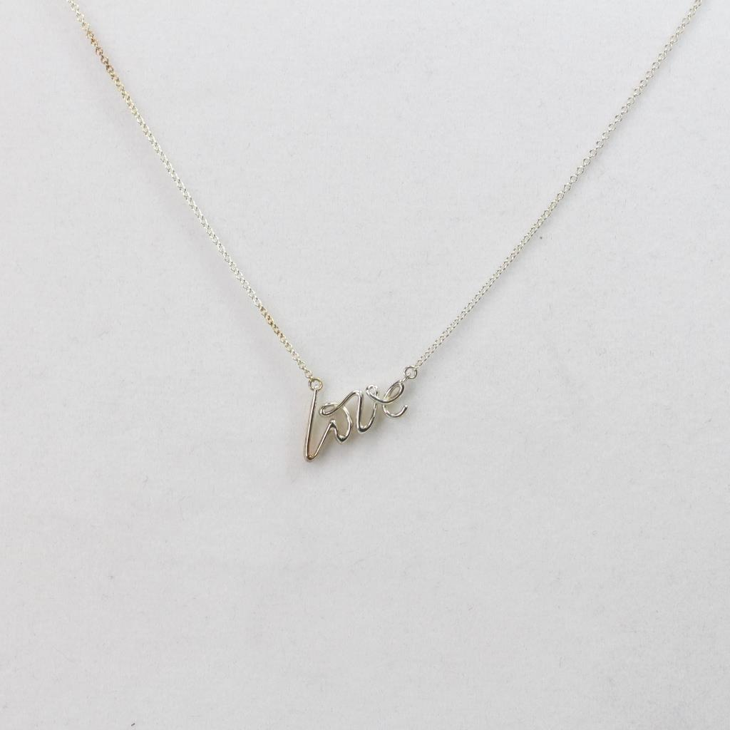 a6ba1d0d78b95 1.68g Silver Tiffany & Co Paloma's Graffiti Love Pendant Necklace ...