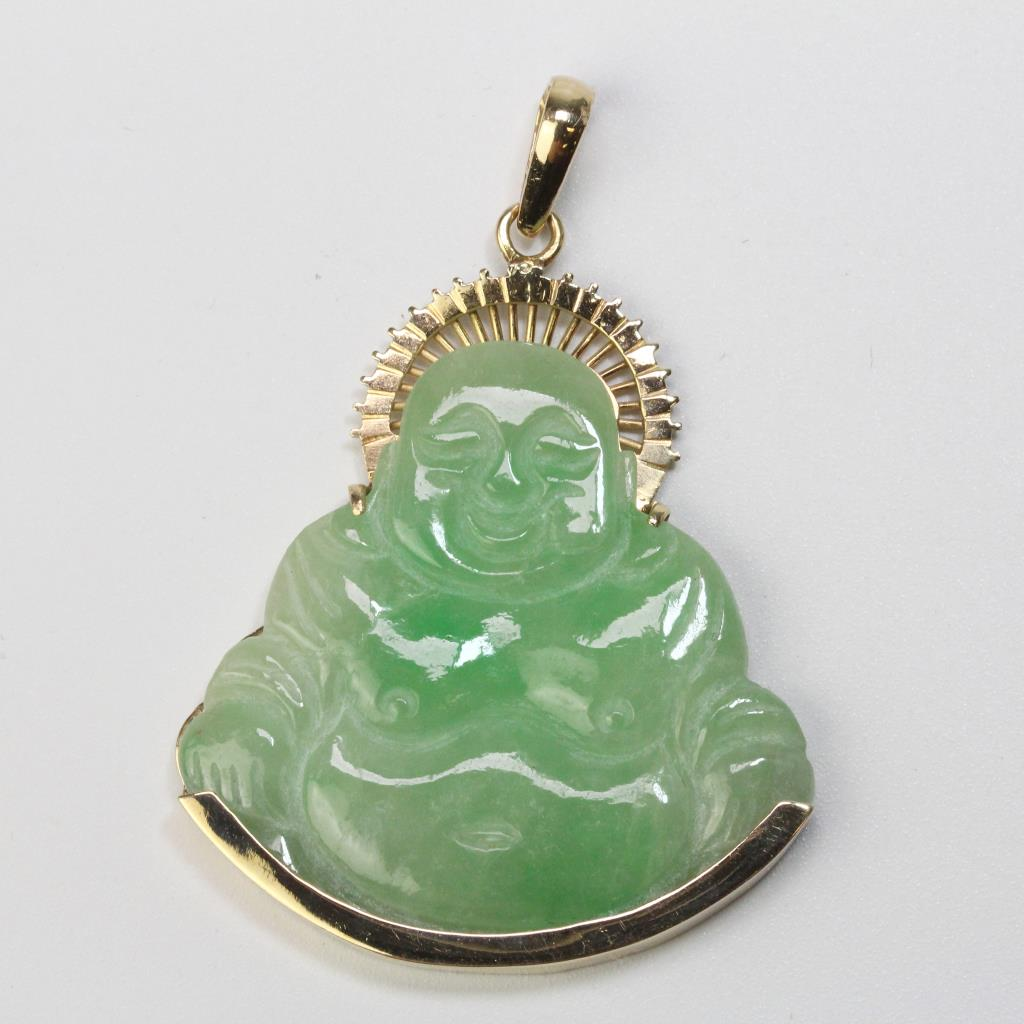 16kt Gold 13g Jade Buddha Pendant Property Room