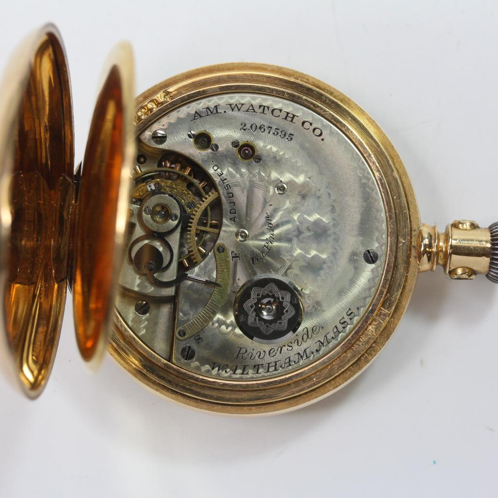 18k Gold American Waltham Co Pocket Watch Property Room