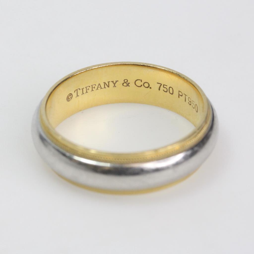 e8e1de16c 18k Gold And 95% Platinum 10.22g Tiffany & Co Ring | Property Room