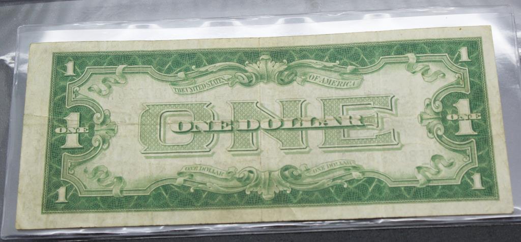 1928 A Funnyback Silver Certificate Dollar In First Commemorative