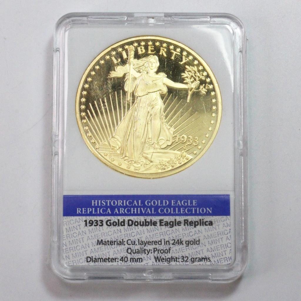Description 1933 Gold Double Eagle Replica Coin From The Historical Archival Collection Limited Edition American Mint
