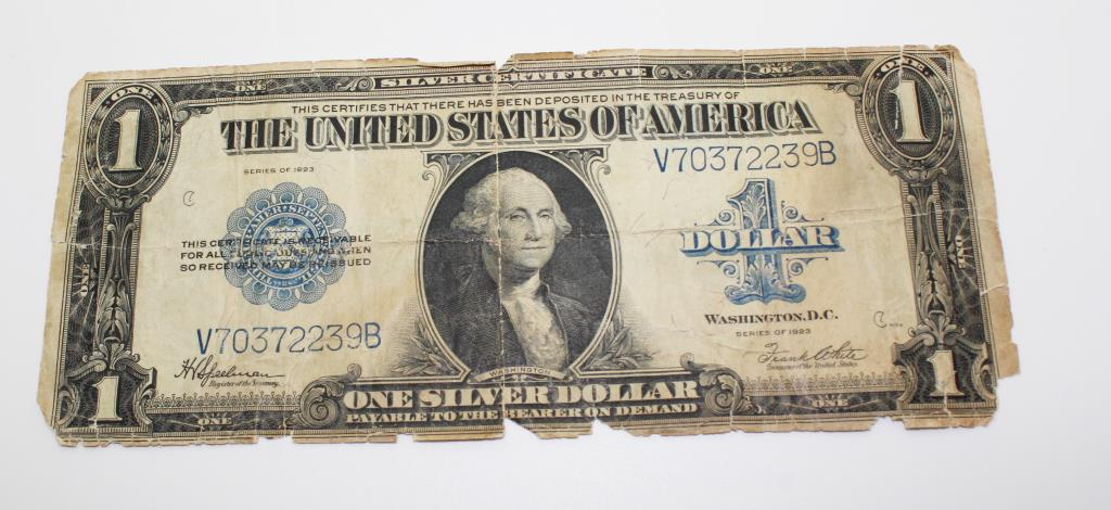 1935A One Dollar Hawaii Silver Certificate And Two Large 1923 One ...