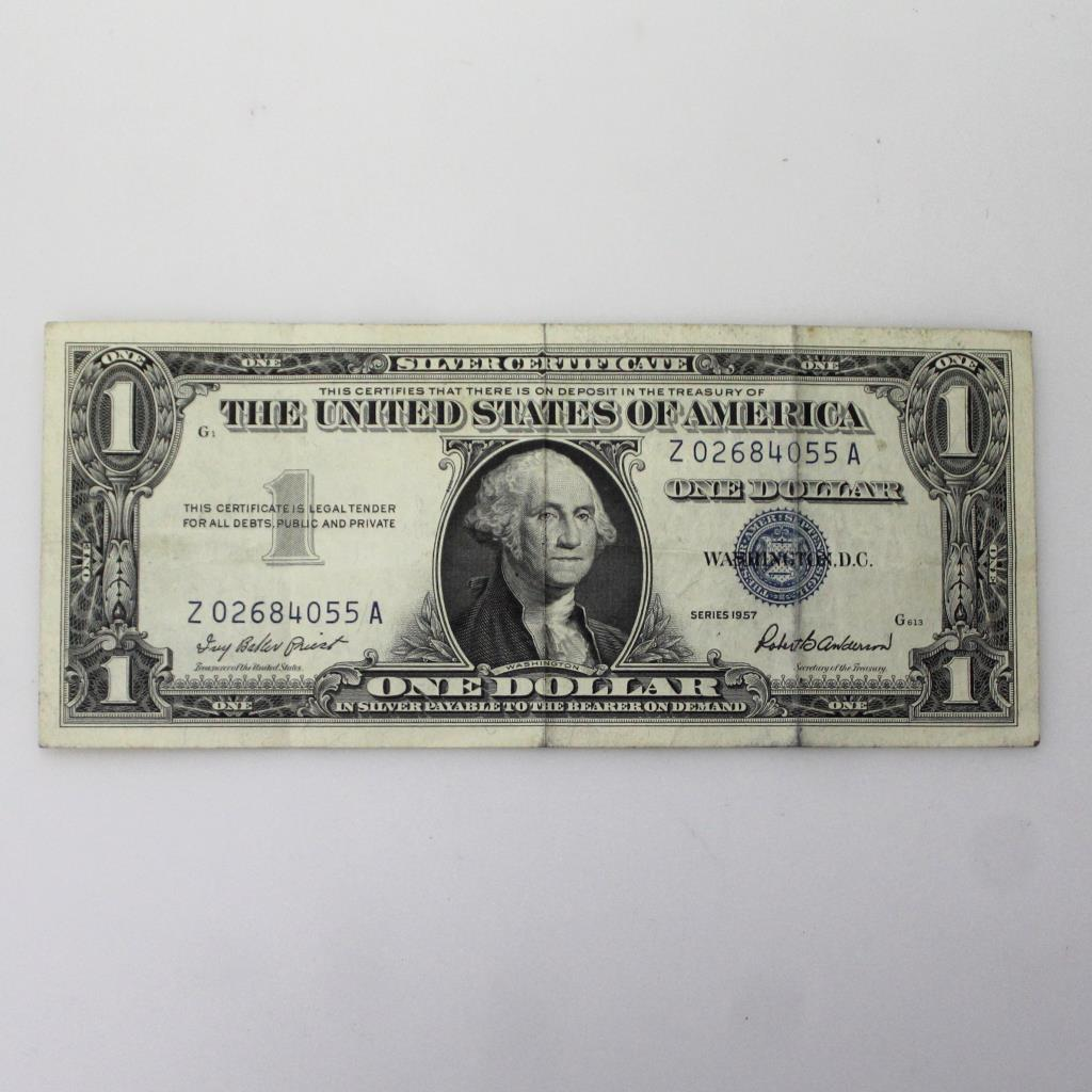 1957 Blue Seal Us One Dollar Bill Property Room