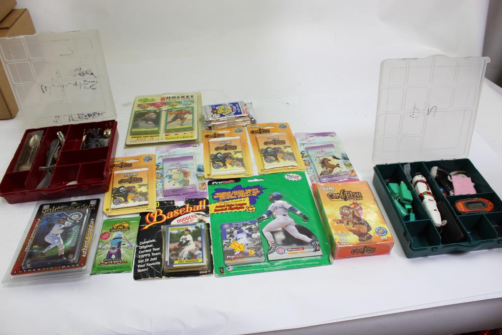 1990s Baseball Cards Small Storage Boxes And More Bulk Lot