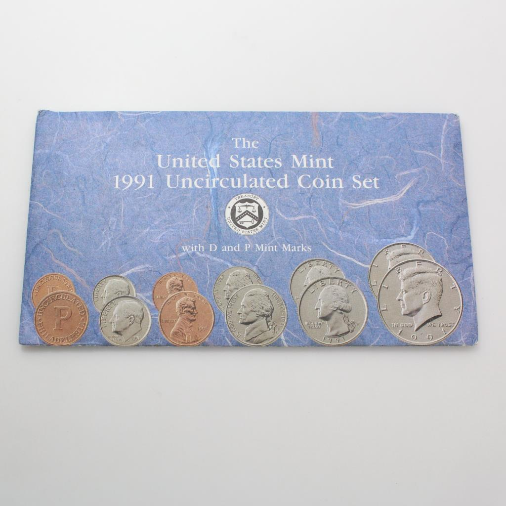 Brilliant Uncirculated US Coins 1991 P/&D Mint Set