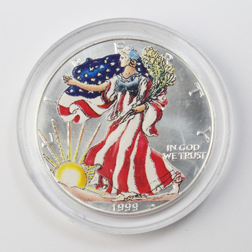 1999 Colorized American Eagle Silver Dollar Property Room