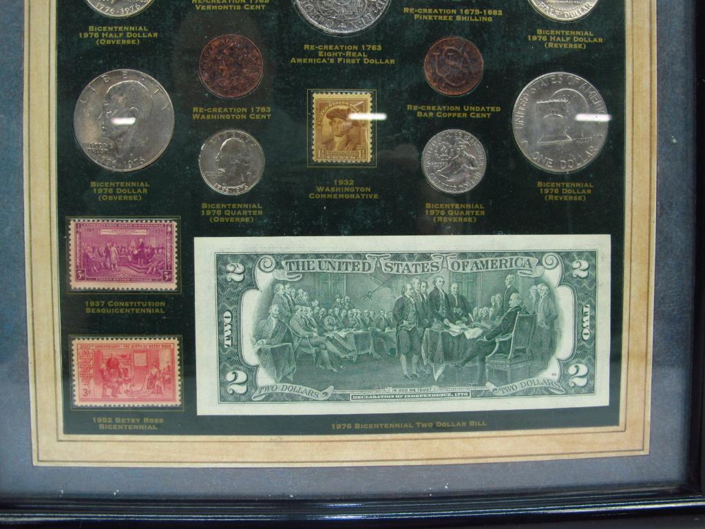 The Birth Of A Nation Framed Coin, Currency, And Stamp Collection ...