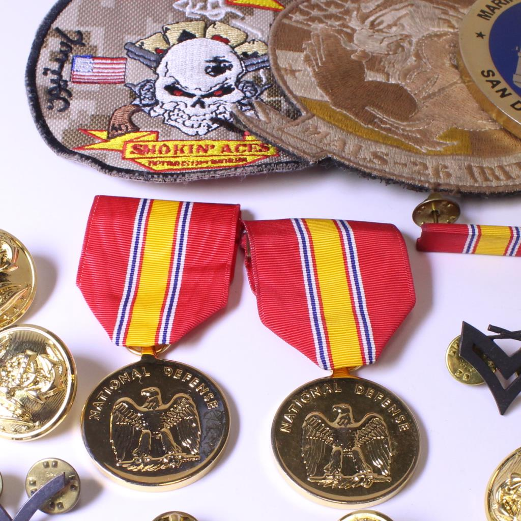 20+ Mixed Military Insignia, Patches, And Pins | Property Room