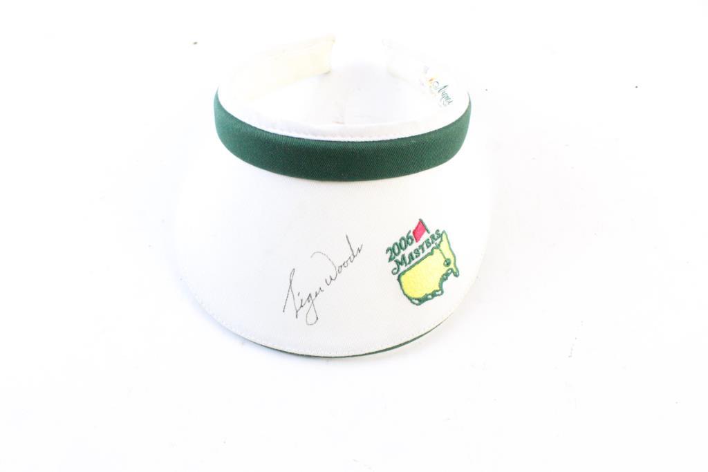 2006 Masters Visor With Tiger Woods Signature  ecbaf19472b