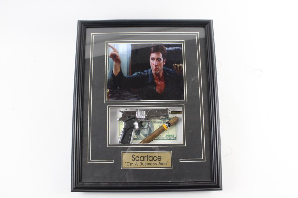 22 X 18 Frame With Scarface Memorabilia Property Room