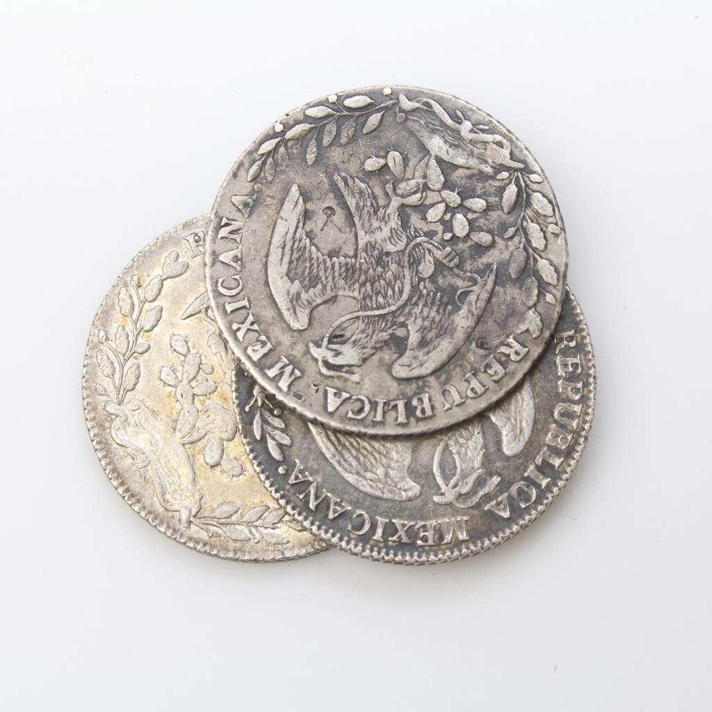 3 1800's Silver Mexican 8 Reales Coins | Property Room
