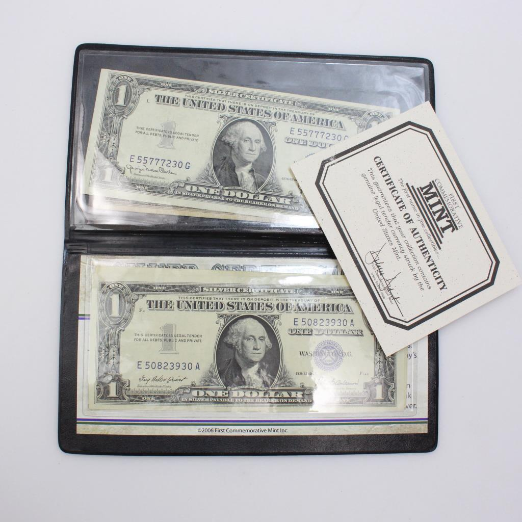 4 Us 1935 1957 Silver Certificate Washington Dollar Bills