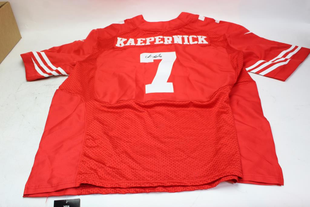 the best attitude e3079 57507 49ers Football Jersey Signed By Colin Kaepernick | Property Room