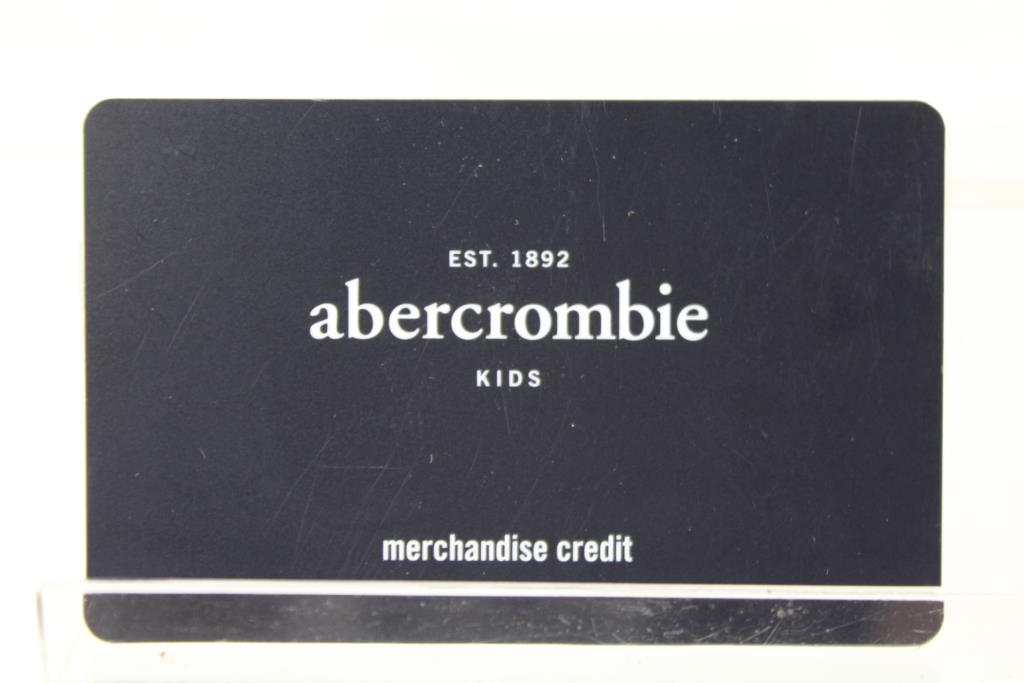 abercrombie kids credit card Abercrombie Kids, $172.40 Gift Card | Property Room