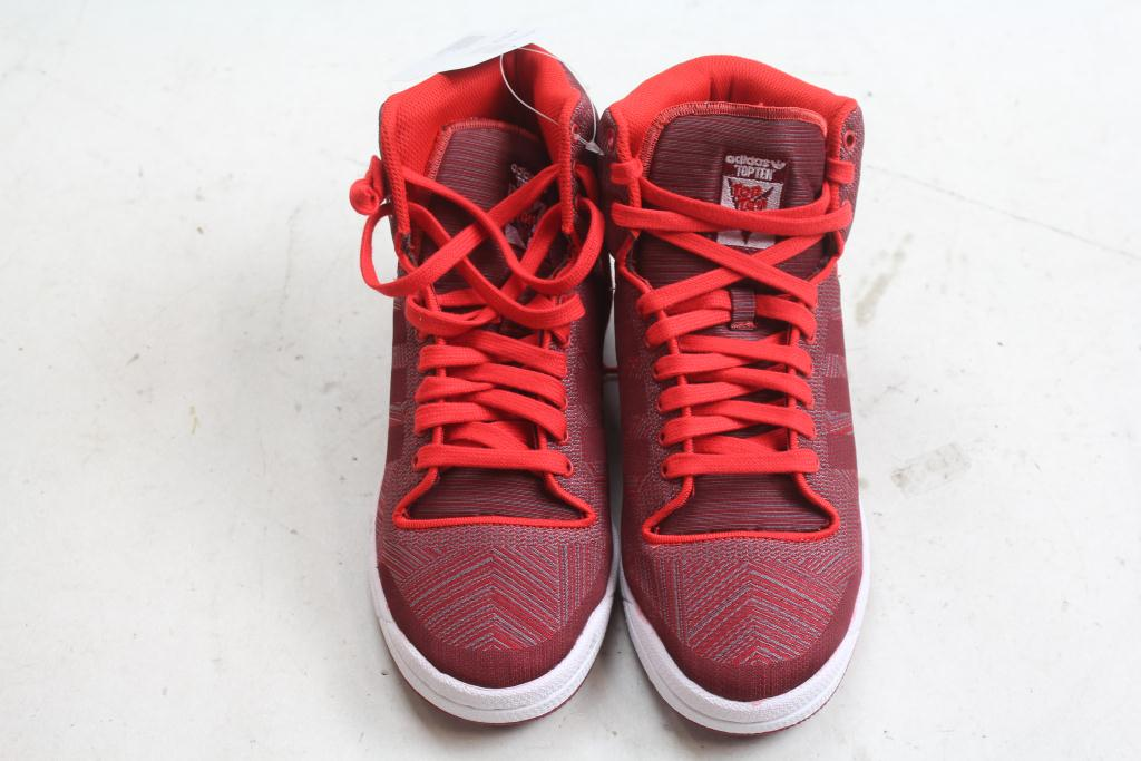 save off 98538 3806e Adidas Mens Top Ten Hi Woven Shoes Size 8.5
