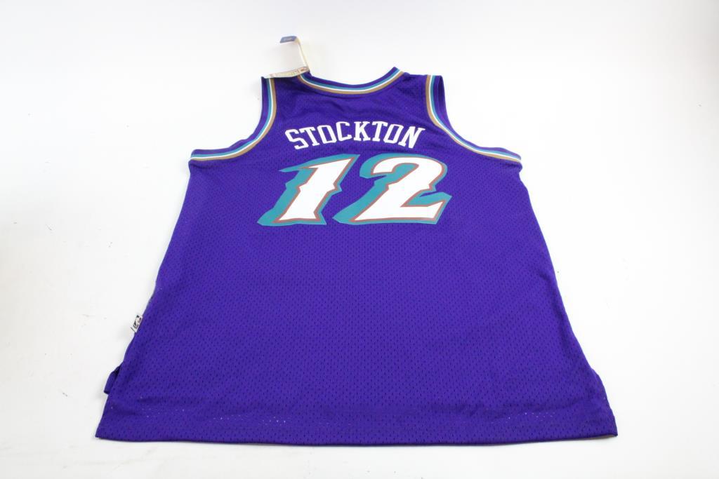 f363d22f Adidas NBA Hardwood Classics Utah Jazz John Stockton Jersey, Size Large