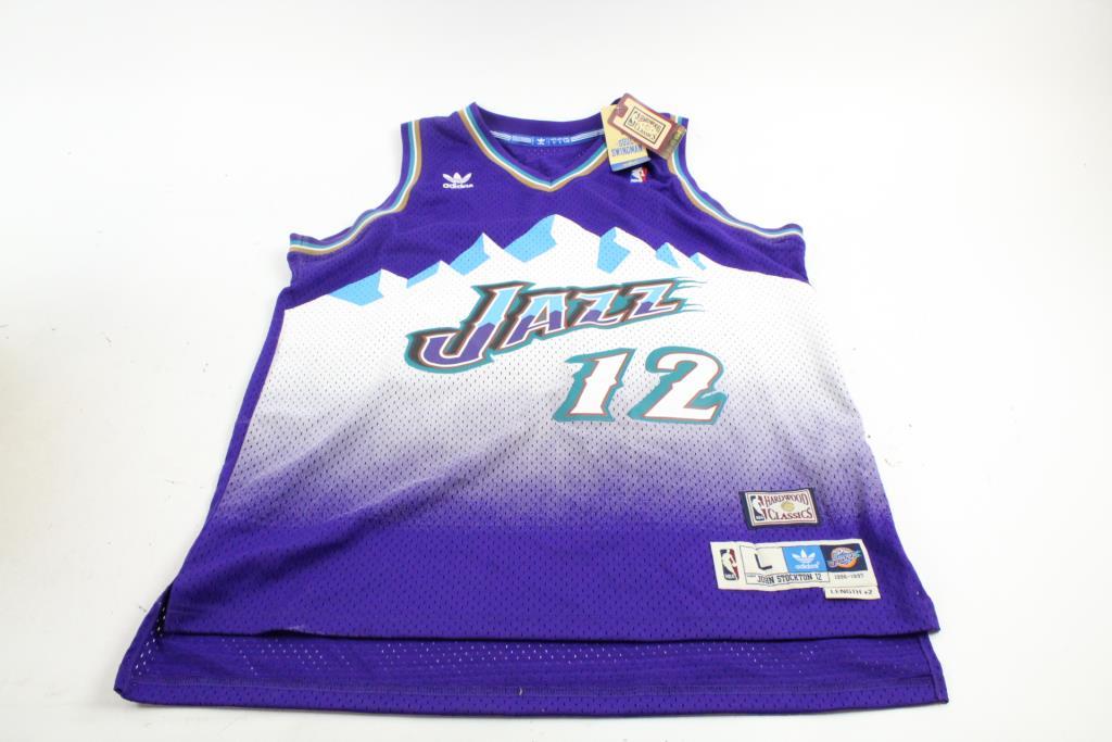 new arrival bb9de 453d0 Adidas NBA Hardwood Classics Utah Jazz John Stockton Jersey ...