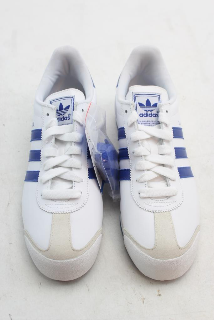 adidas samoa shoes white blue mens size 9 property room