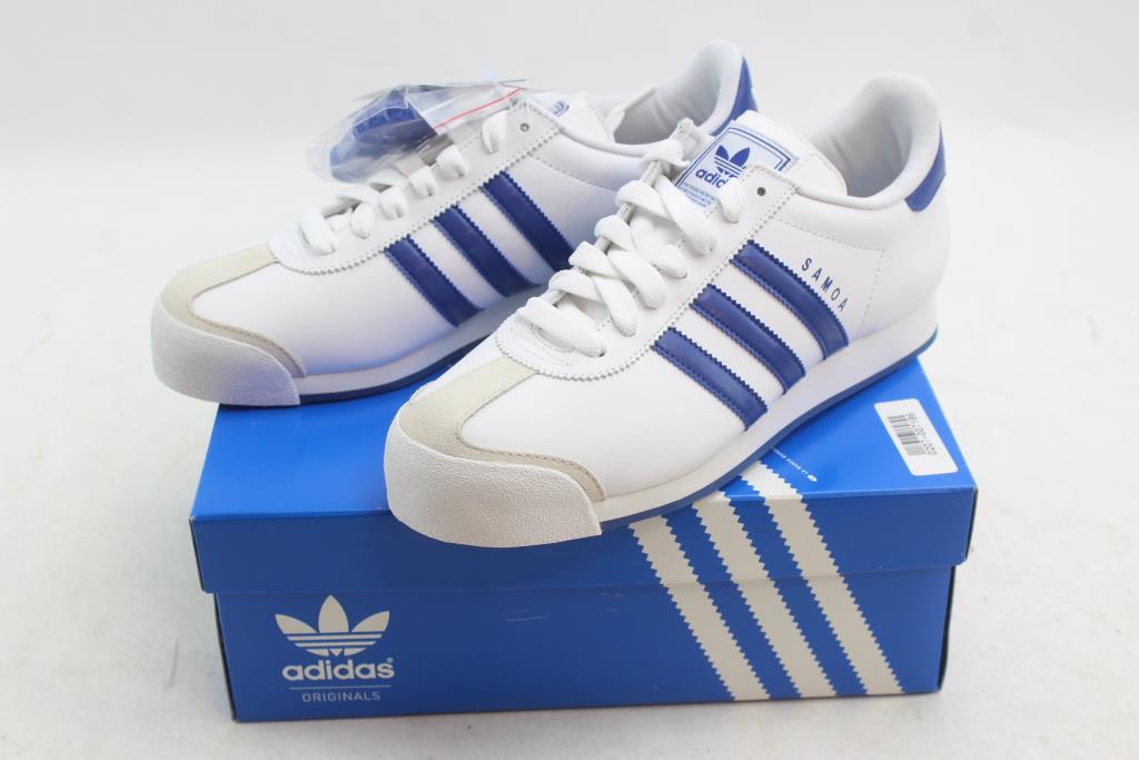 Adidas Samoa Shoes White, Blue Men's Size 9 | Property Room