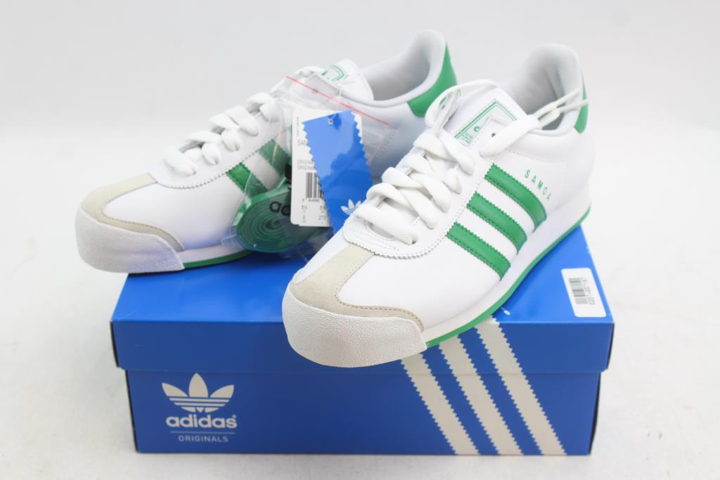 brand new f29be dcb76 Image 1 of 7. Adidas Samoa Shoes White, Green Men s Size 9