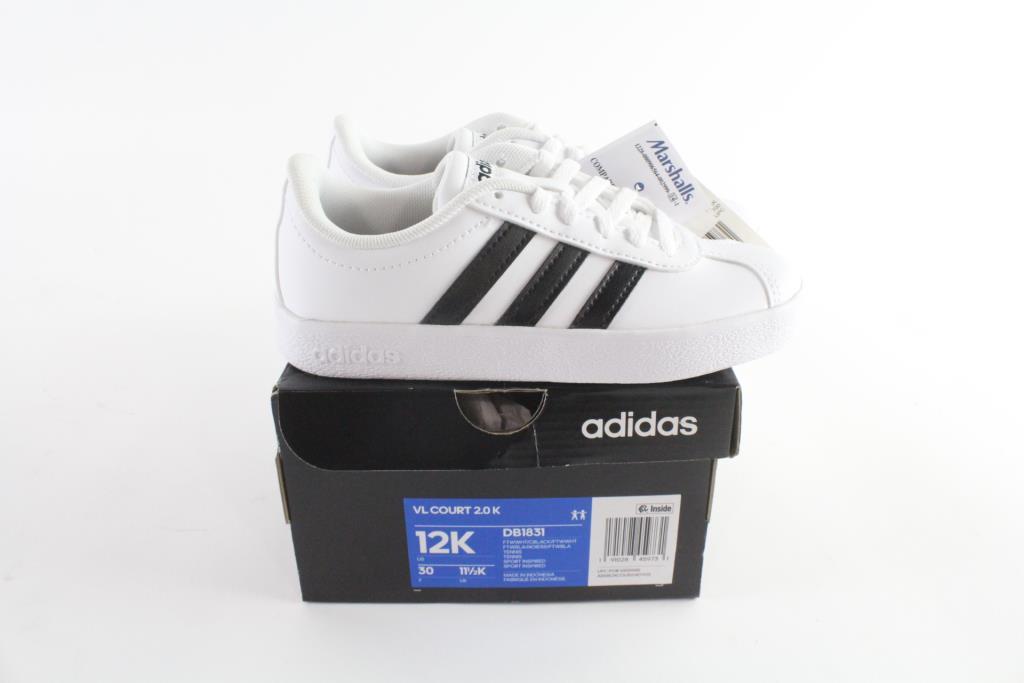 Adidas VL Court 2.0 K Kids Shoes Shoes, Size 12K | Property Room
