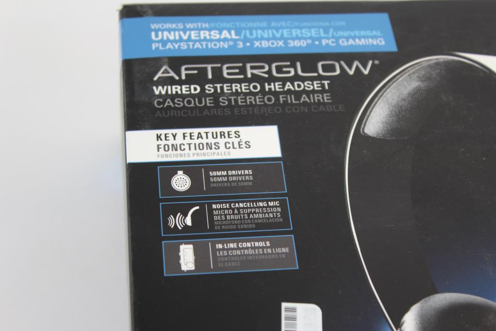Afterglow Wired Stereo Headset Ps3 Xbox 360 Pc Gaming Property