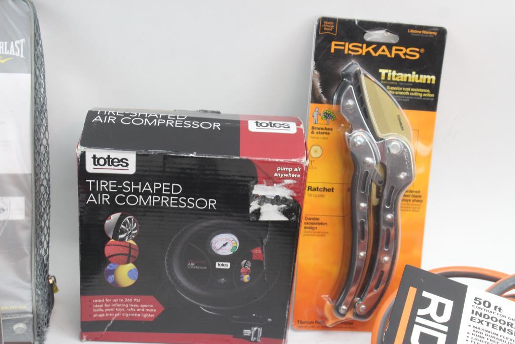 Air Compressor Ratchet Food Slicer 50ft Extension Cord Leather